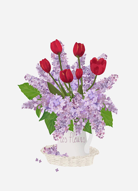 settimanafloreale_lillac_tulipani_illustrazione_pourquoipas