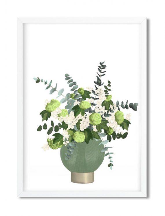illustrazione floreale in vaso