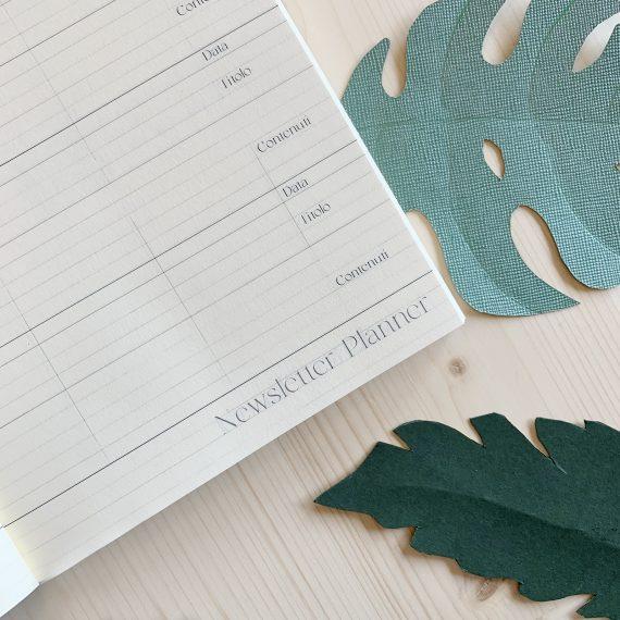 organizzazione interna dell'agenda gentile: newsletter planner